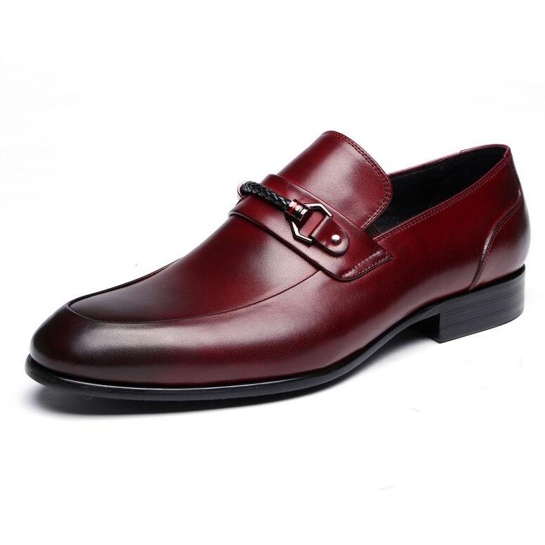 Vestido Formal de cuero genuino Zapatos Sin Sin Zapatos Cordones Mocasín Hombres Nuevos Zapatos Oxford Penny 691e95