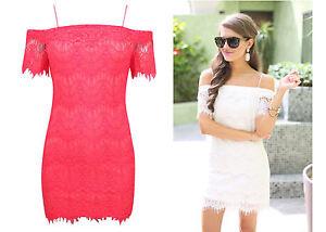 ex-TOPSHOP-Dress-Lace-Bardot-Off-Shoulder-Party-Occasion-Dress