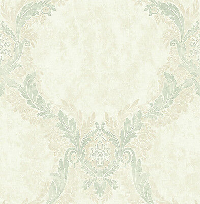 Wallpaper System Solution Marble Vines Ornaments Mint Green Sand