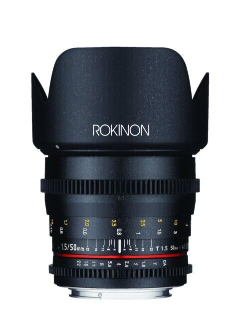 Rokinon Cine DS 50mm T1.5 Full Frame Prime Cine Lens for Canon EF- Model DS50M-C