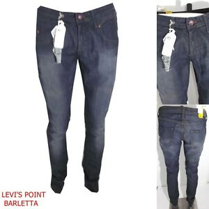jeans-lee-norman-scoop-stretch-da-donna-slim-narrow-leg-slavato-taglia-W32L33