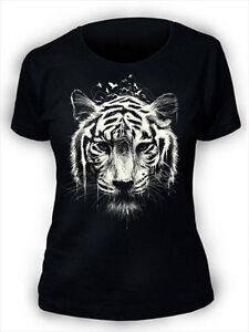 Tiger-T-Shirt-Damen-Land-Sea-Air-Voegel-Eis-Wasser-Natur-WB7