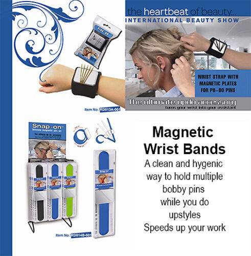 Magnetic Wrist Band an ideal utility item for stylists to hold clips