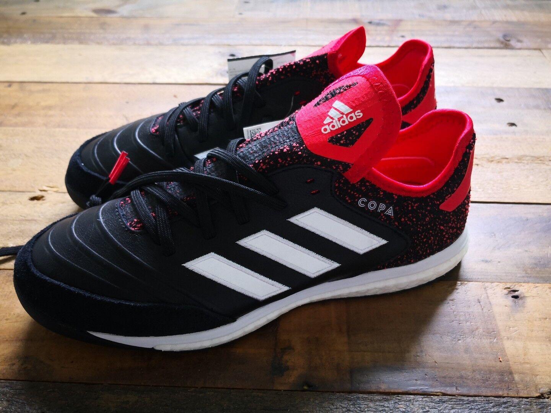 adidas Copa 18.1 TR Lifestyle Shoe - Black/White/Real Coral Sz 8.5