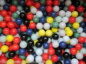 """MARBLES BULK LOT 2 POUNDS 9/16"""" SOLID COLORED MARBLE KING MARBLES FREE SHIPPING"""