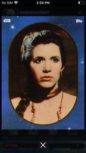 Topps-Star-Wars-Digital-Card-Trader-Blue-Sticker-Art-2-Leia-Insert-Award