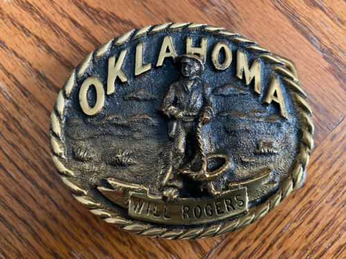 The Will Rogers Belt Buckle Vintage  - image 1