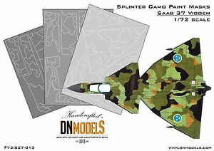 Saab-37-Viggen-1-72-Splinter-Camouflage-Paint-Mask-Set-1-72-by-DN-Models