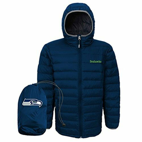 Outerstuff NFL Youth Seattle Seahawks Solid Packaway Puffer Jacket