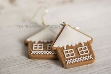 Novelty Festive Christmas Earrings Gingerbread House Biscuit Fun Xmas Gift New