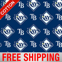 Tampa Bay Rays Cotton Fabric Mlb 60 Wide Free Shipping Tam-6656