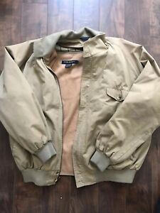 Men-s-Brooks-Brothers-Large-Full-50-Zip-2-Layer-Bomber-Jacket-Removable-Inside