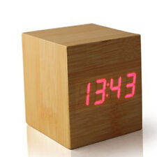 Box - The Wooden LED Clock - Wood with Red LED