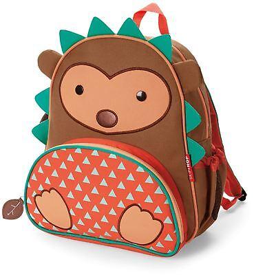 Skip Hop Zoo Poco Kid Back Pack - Hedgehog Bambini Borse Nuovo Imballaggio Di Marca Nominata