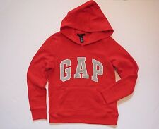 NWT Girls GAP KIDS Red Pullover Arch Logo Fleece Hoodie Sweatshirt Size XXL 14
