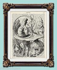 "ALICE nel paese delle meraviglie Hookah fumo Caterpillar VINTAGE pagina stampa 1920's 10 ""x8"""