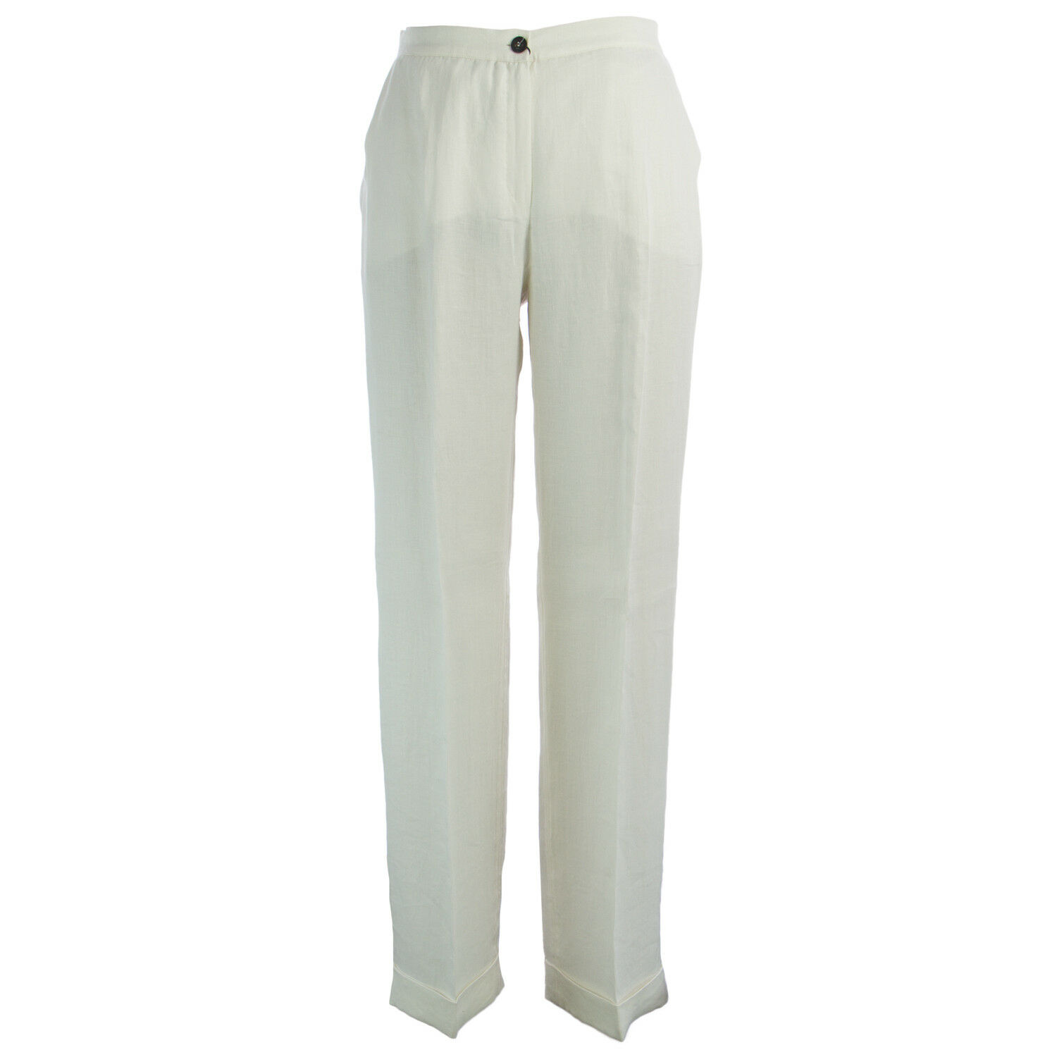 MARINA RINALDI Women's White Raquel High Waisted Pants  505 NWT