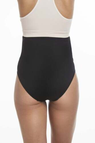 Camille Womens Underwear Black Over The Bump High Waist Maternity Briefs