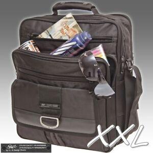 2811733d0b849 Das Bild wird geladen XXL-Umhaengetasche-Flugbegleiter-Tasche-Messenger-Bag- Arbeitstasche-DIN-