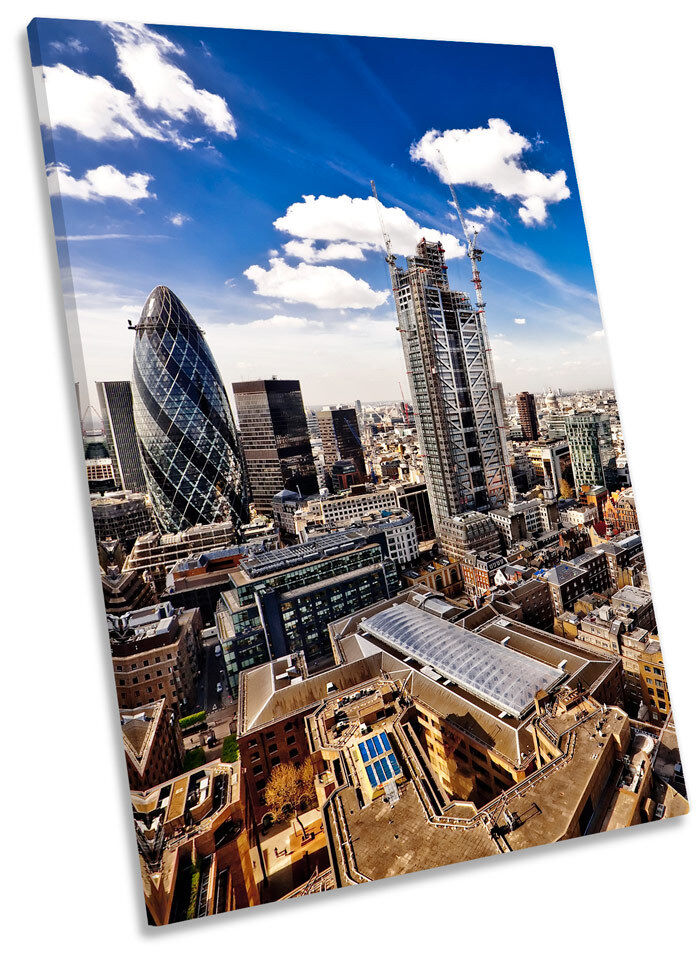 Cityscape London Skyline Framed CANVAS WALL ART Print Picture