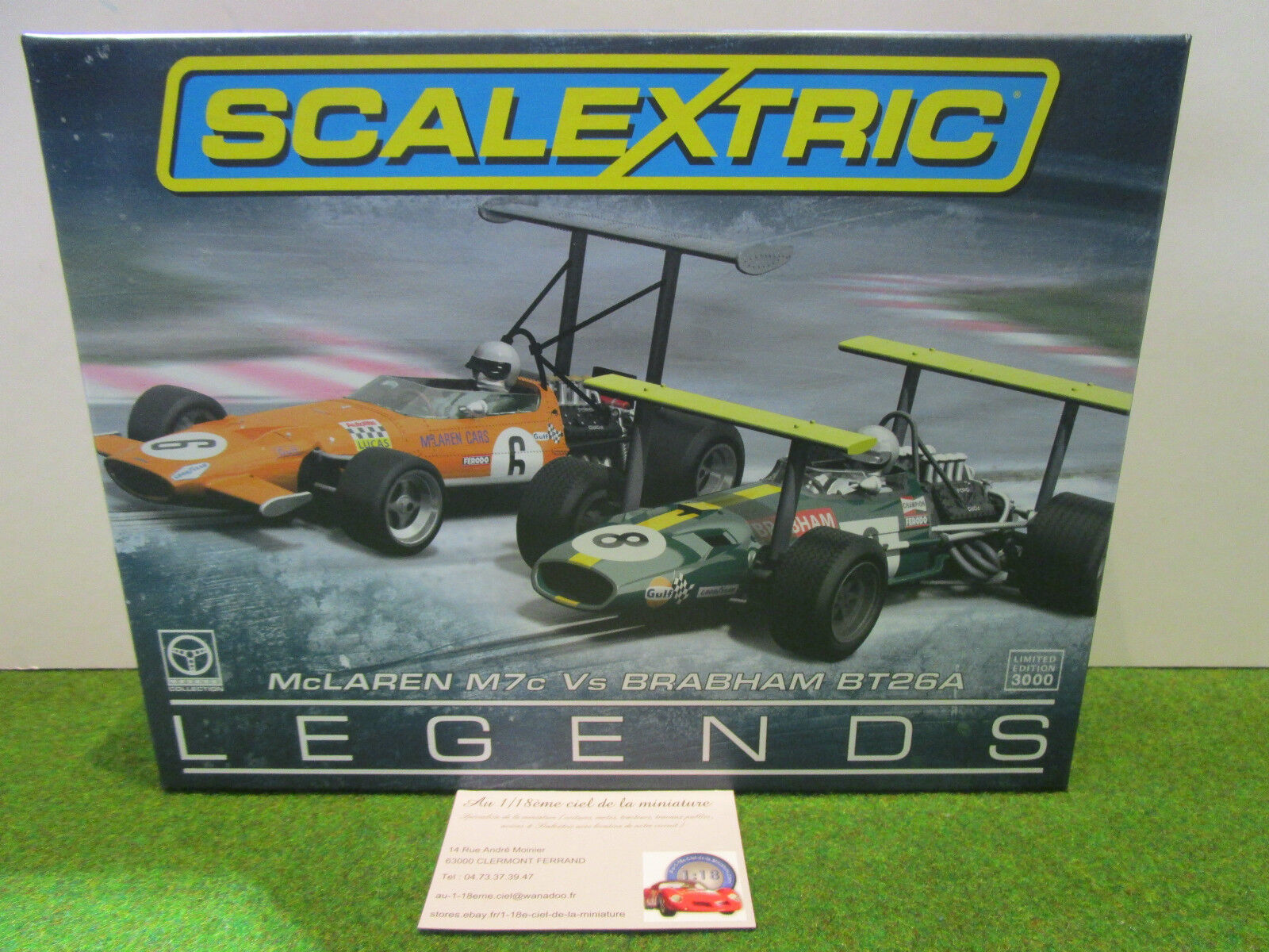 COFFRET McLAREN M7c & BRABHAM BT26A au 1 32 SCALEXTRIC C3589A LEGENDS SLOT
