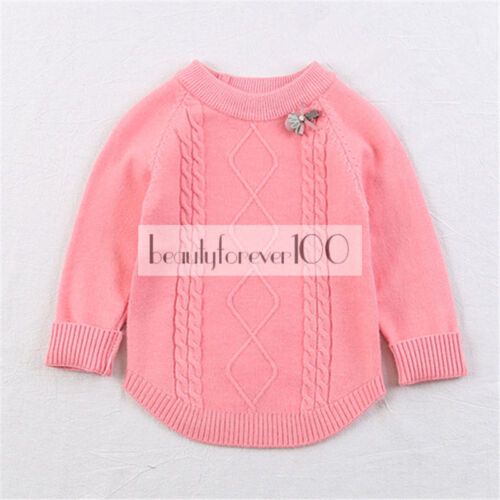 New Autumn Winter Baby Girls Kids Infant Warm Knite Sweater Pullover Top Clothe