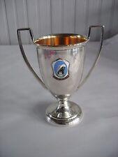 HOLLAND AMERICA LINE  CRUISE Ship Trophy Loving cup Enamel medallion silverplate