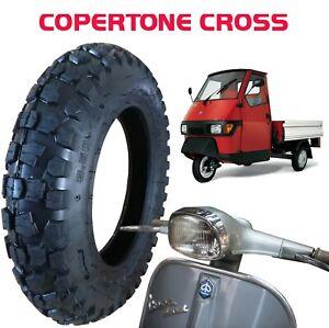 Copertone-Gomma-Pneumatico-3-50-10-6PR-51J-CROSS-TASSELLATA-APE-PIAGGIO-VESPA-PX