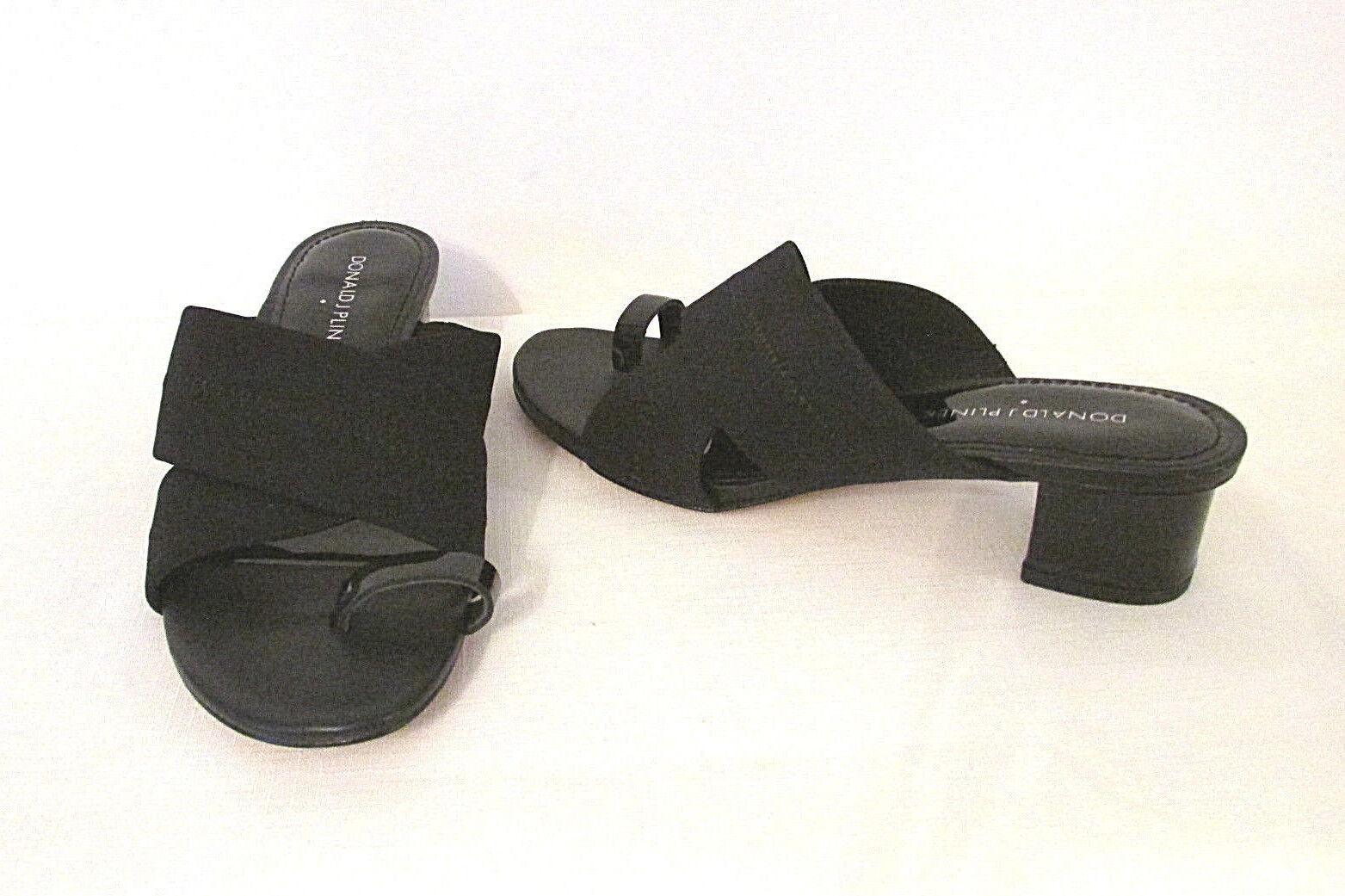 Women's DONALD J PLINER Mara Toe Ring Mesh Canvas Sandals Patent Leather 6 M