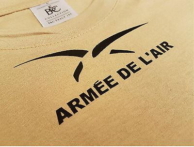 """Tshirt TAN /"""" ARMEE DE L/'AIR RESERVISTE /"""" félin Guérilla F2 PILOTE"""