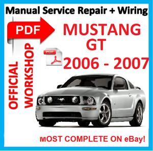 official workshop manual service repair for ford mustang gt 2006 rh ebay es manual mustang 2007 manual mustang 2007 v6