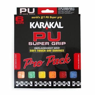 Tennis 2 x Karakal Super PU Multi Replacement Grips Squash Red//Black