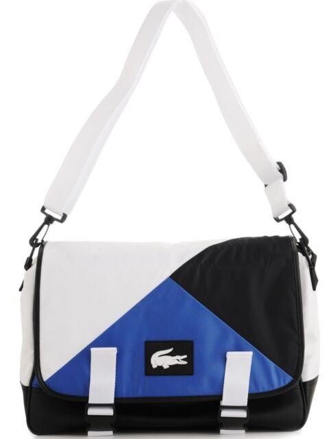 1332f243d1767 LACOSTE Sport Fair Play Messenger Crossbody Gym Bag True Blue Black White