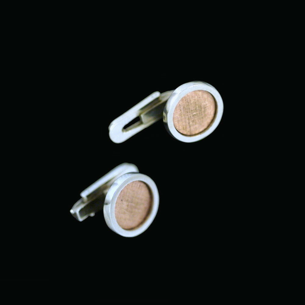 Christian Frederik Heise - Copenhagen. 14k white and pink gold Shirt Studs.
