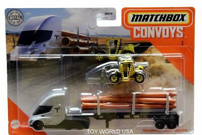 MBX Matchbox 2020 Convoys Tesla Semi /& Pipe Trailer Load Lifter 5//8