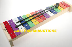 15-KEY-STEEL-XYLOPHONE-GLOCKENSPIEL-wooden-frame-with-sound-chamber