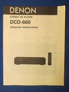 DENON-DCD-660-CD-OWNER-OPERATING-MANUAL-FACTORY-ORIGINAL-THE-REAL-THING
