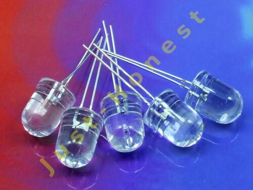 Stk.5x LED 10mm ULTRABRIGHT Rot//Red Grün//Green Gelb//Yellow Blau//Blue  Weiß//White