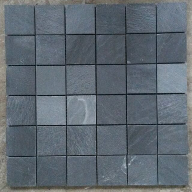 Mosaic Slate Stone Tiles Floor Wall Anthracite Bathroom 30x30 8mm M040 New