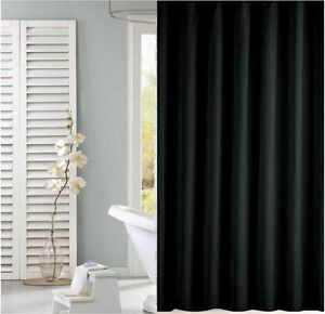 Image Is Loading Solid Black Shower Curtain 2m 2 4m New