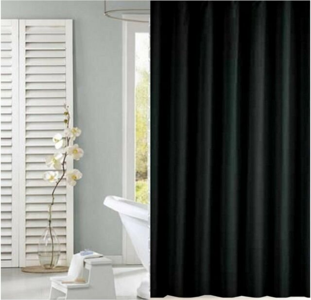 Solid black shower curtain 1.8m new free shipping