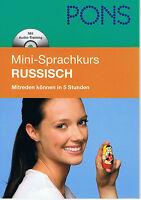 PONS Mini-Sprachkurs - Russisch - Mitreden können in 5 Stunden - Mit Mini-MP3-CD