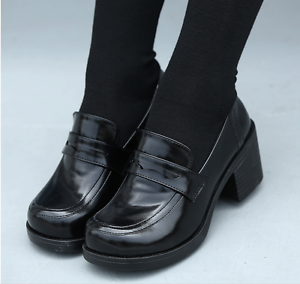 4b3afcbf169 Hot Womens Bloclk Heels Shoes Japanese School Girls Slip On Brogue ...