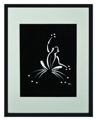 "Ringtail Possum Black Matted Print 8/""x10/"" framed or unframed."