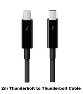 New Genuine Original OEM APPLE Thunderbolt Cable 2M MF639LL//A A1410 Black