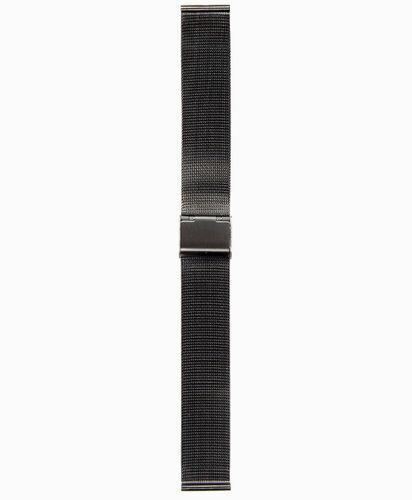 Steel Strap mm.18 PVD Black Maglia Milano Spare Parts Watch