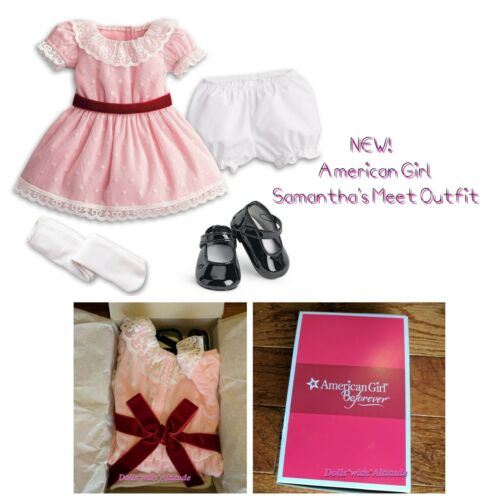 American Girl Samantha Meet Outfit for 18 doll NEW! Beforever Complete Pink