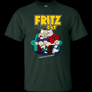 Fritz the Cat Cartoon G200 Gildan Ultra Cot Retro Audlt Movie Robert Crumb