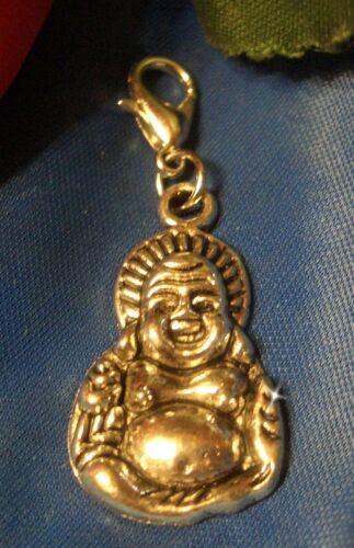 Buddha Glücksbringer Charms Armband Anhänger m C928 Karabiner NEU