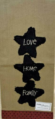 """Details about  /Park Designs Love Home Family Embroidered Dish Towel 19"""" x 28"""""""